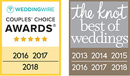 multiple Wedding Wire Couples' Choice and the knot best of weddings award winner
